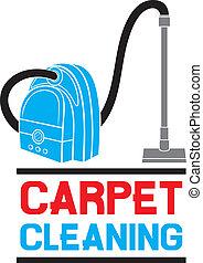 czyszczenie, służba, dywan