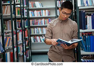 czytanie książka, biblioteka, człowiek