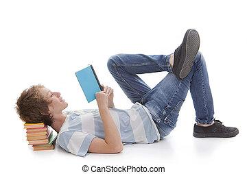 czytanie książka, koźlę