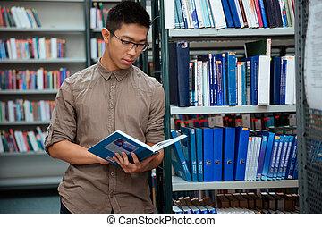 czytanie książka, student, biblioteka