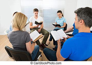 czytanie, przyjaciele, biblia