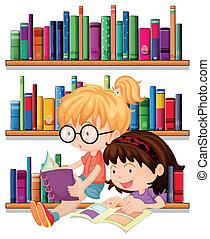 czytanie, przyjaciele, dwa
