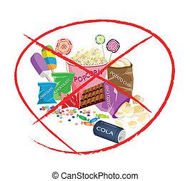 dále, jíst, lahodnost, napití, a, lahodnost, snack