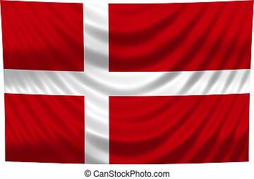 dánia, nemzeti lobogó
