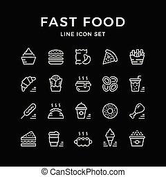dát, řádka, ikona, o, hustě food