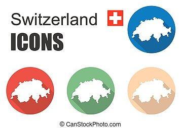 dát, švýcarsko, ikona