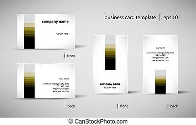 dát, business card, šablona
