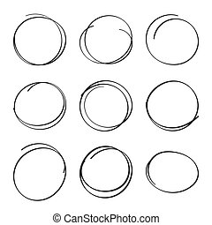 dát, felt- dotknout se, rukopis, pero, circles., nahý,...