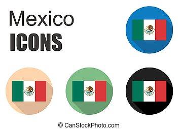 dát, mexiko, byt, ikona