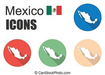 dát, mexiko, ikona
