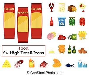 dát, o, 24, food ikona