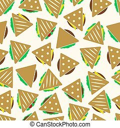 dát, o, barva, tortilla, nebo, sendvič, tacos, strava, seamless, model, eps10