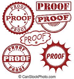 dát, o, důkaz, poštovní známky
