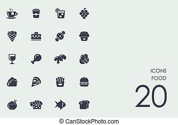 dát, o, food ikona