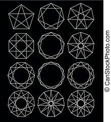 dát, o, geometrický, shapes.