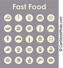 dát, o, hustě food, jednoduchý ikona