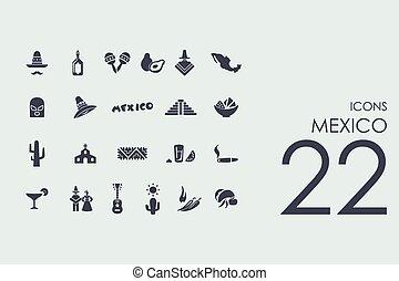 dát, o, mexiko, ikona