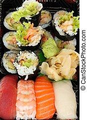dát, o, sushi, -, zdravý food