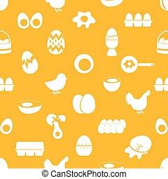 dát, o, vejce, námět, ikona, seamless, model, eps10