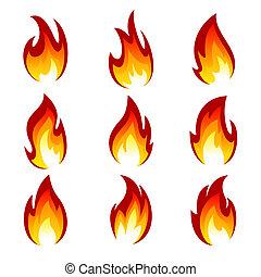 dát, oheň