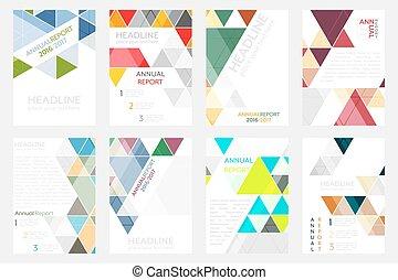 dát, povolání, korporační, pattern., nebo, letec, a4, brožura, size., prapor, geometrický, šablona