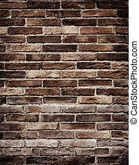 dávný, cihlový stěna, grungy, tkanivo