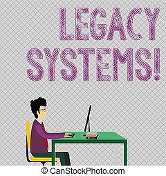 dávný, fotografie, odkaz, předsednictví, technika, pracovní, systém, dílo, systems., obklad, plán, pojmový, metoda, povolání, sedění, showing, rukopis, books., počítač, showcasing, obchodník, nebo