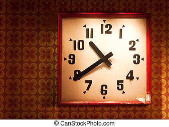 dávný, hodiny, dále, za, grafické pozadí