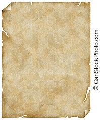 dávný, noviny, nebo, pergamen