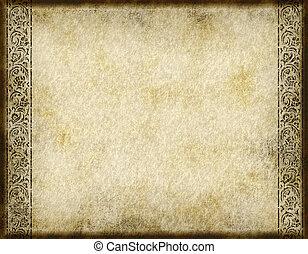 dávný, pergamen