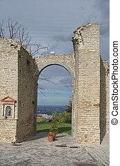 dávný, starobylý troska, portál
