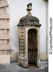 dávný, strážní budka, v, ta, hofburg, v, heldenplatz, do, vídeň