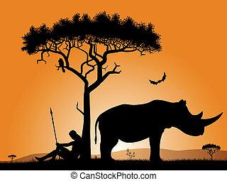 dämmern, afrikas