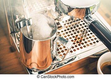 dämpfen, cappuccino, milch