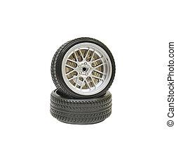 dæk, hjul