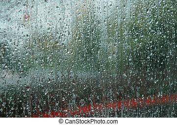 déšť, abstract.