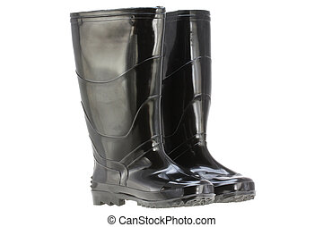 déšť, (rubber, čerň, sluha, boots)