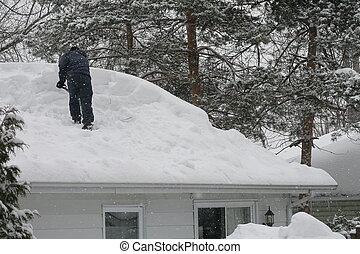 déblayement, les, toit