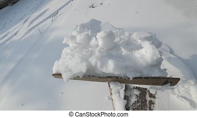 déblayement, neige, allée