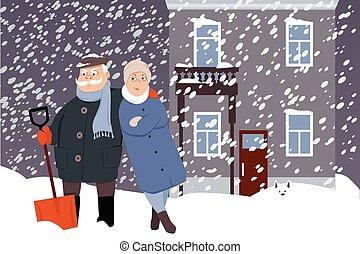 déblayement, neige, interminable