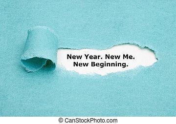 début, nouvel an, me
