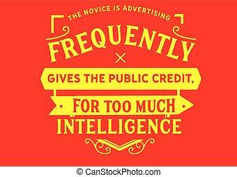 débutant, frequently, publicité