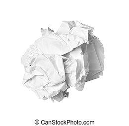 déchets, balle, déchets ménagers, papier, chiffonné, erreur