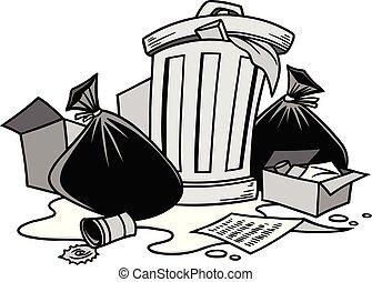 déchets, illustration