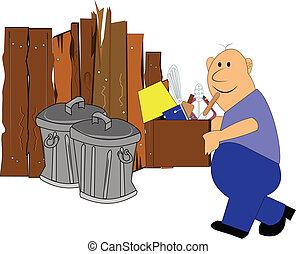 déchets, jour