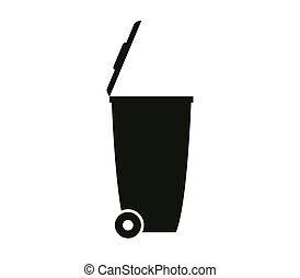déchets ménagers, déchets, icône