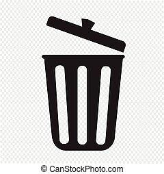 déchets ménagers, icône