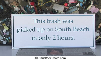 déchets ménagers, plage