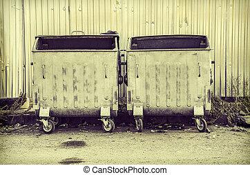 déchets ménagers, récipient ordures