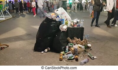 déchets ménagers, rue